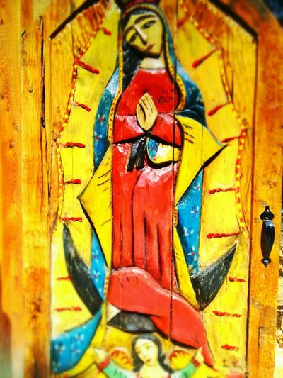 Beautiful decorative door. EyeEm Best Shots WoodArt Religious Door