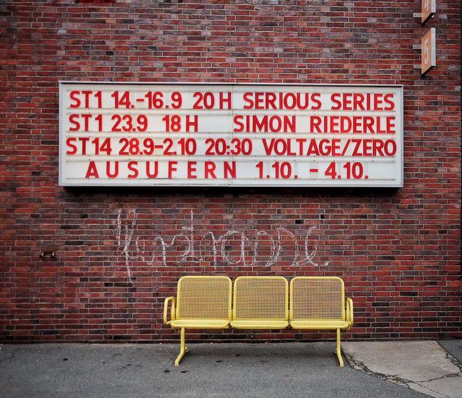 Empty Bench Brick Wall Text Photowalkthisway Gpw16 500px RAW App Berlin Mobilephotography FUJIFILM X-T1