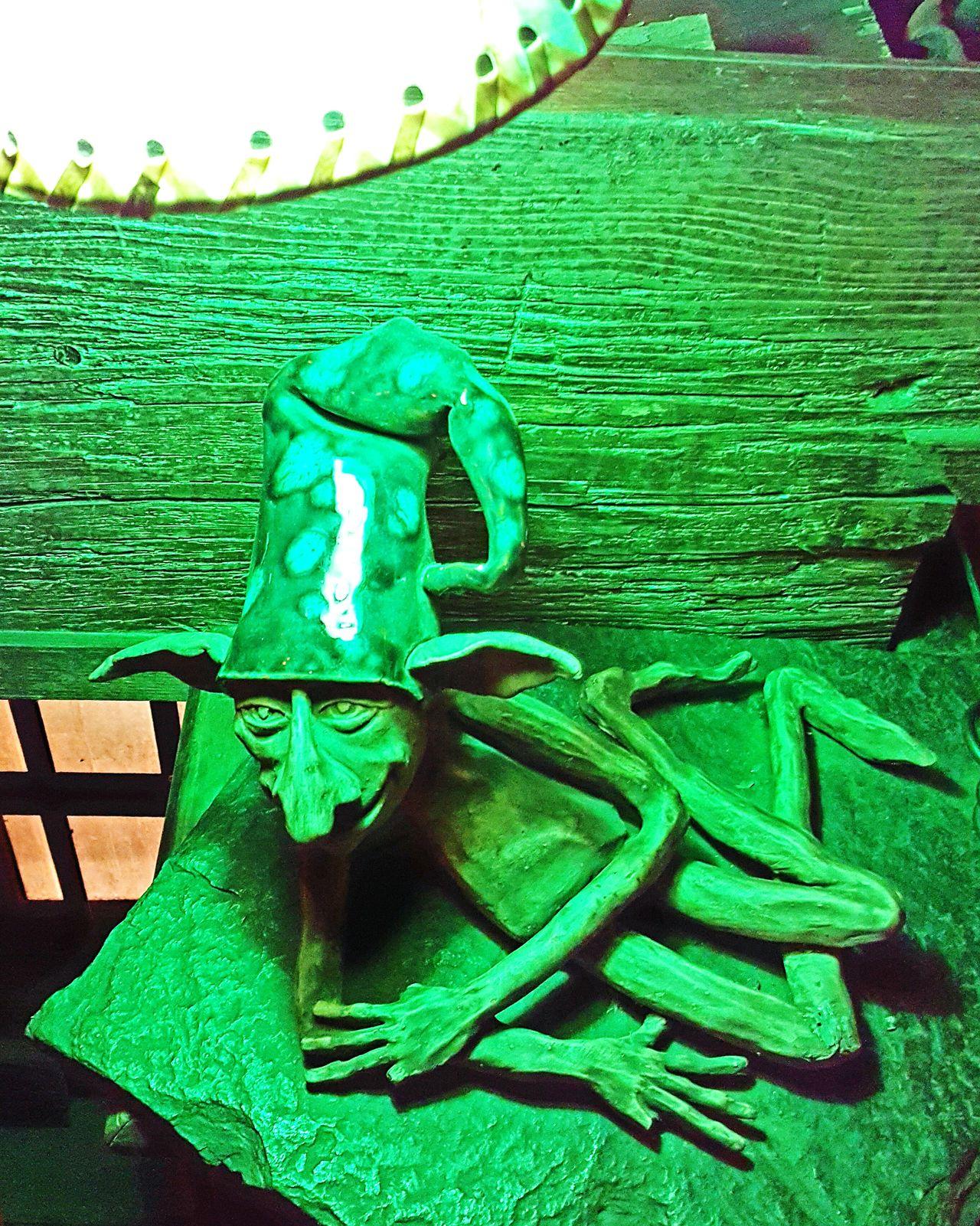 Green Color No People Close-up Elve Goblin Elf Irish Pub Night Indoors  Green Color La Paz, Bolivia Green Elf Under The Lamp
