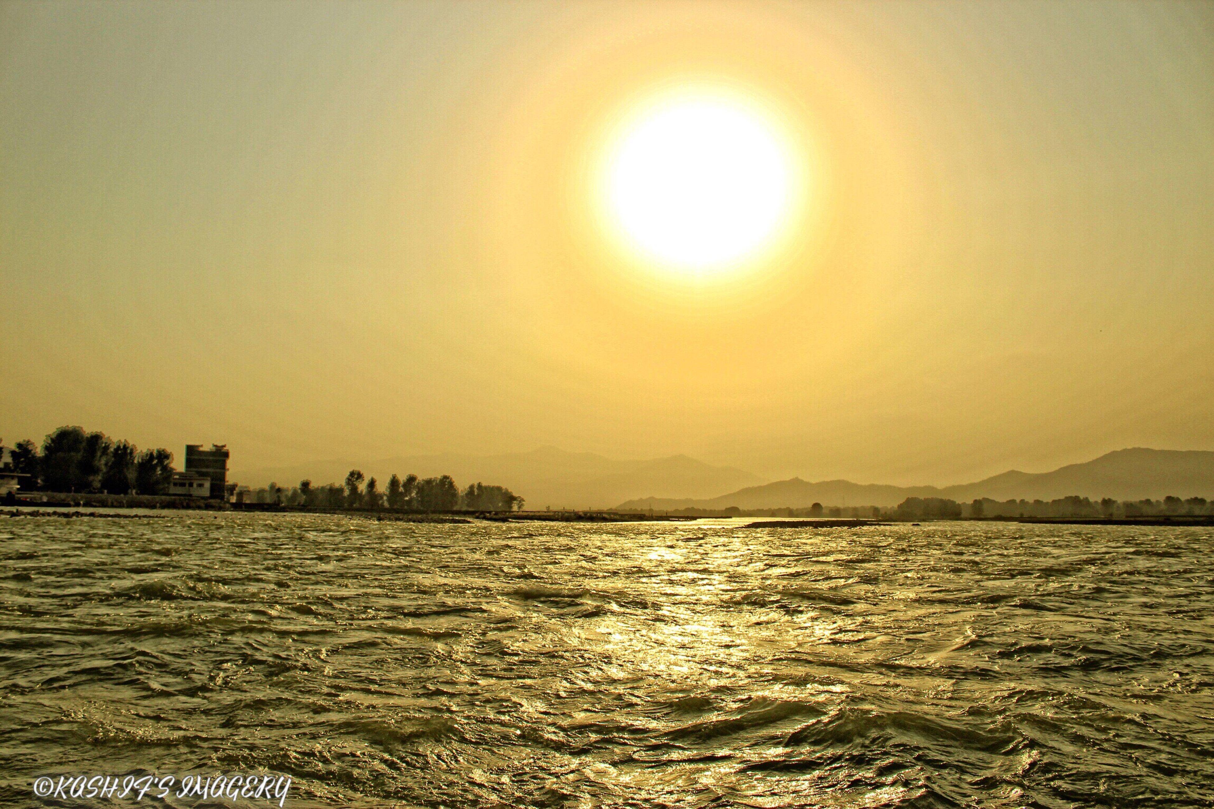 A sunset at Swat River, Fiza Ghatt, Swat #sunset #eveningvibes #eveningshades #orange #riverside #swatriver #swat #summers #away #fiftyshadesofnature