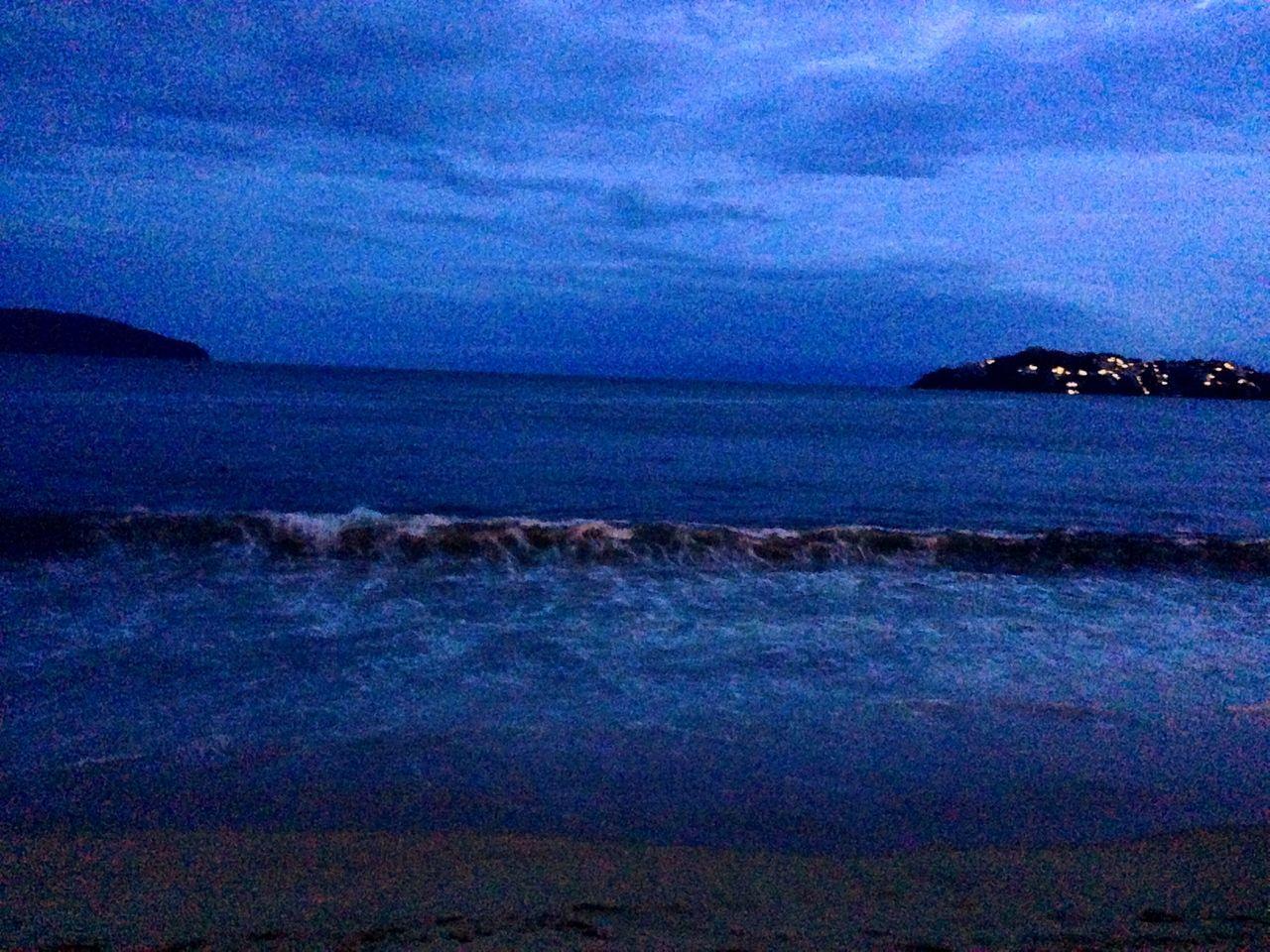 Beach Sea And Sky Afternoon Sand Anocheciendo