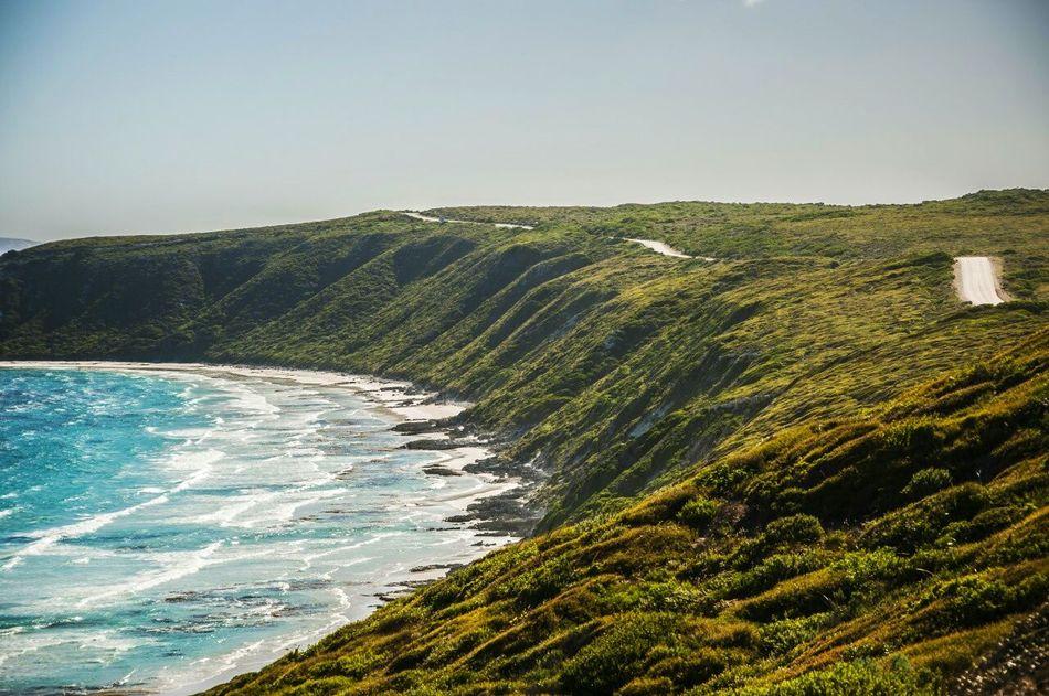 Sea Scenics Travel Destinations Outdoors Beach Landscape Nature Road Trip Travel Australia Western Australia Esperance Scenic Drive Scenery Indian Ocean Seaside Coastline Coast