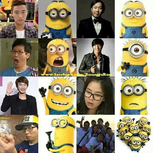 I know this is quite a while back but looking at this just makes me smile all the time! Runningman Minions KangGary JiSukJin leekwangsoo yoojaesuk hadonghoon kimjongkook songjihyo