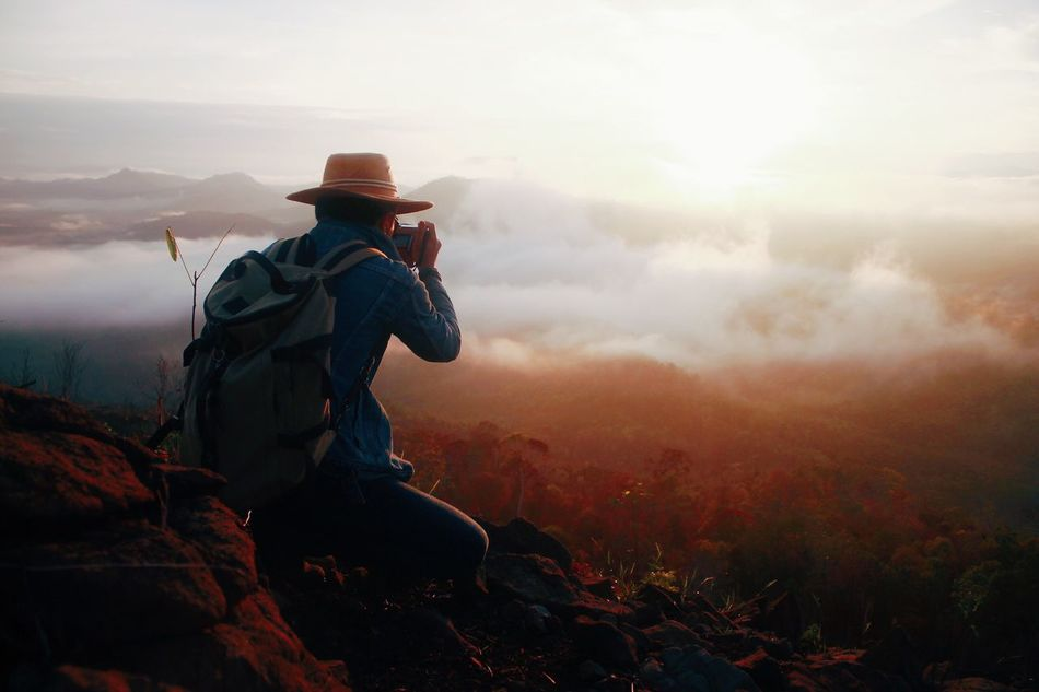 Beautiful stock photos of sunrise,  Adventure,  Beauty In Nature,  Cloud - Sky,  Crouching
