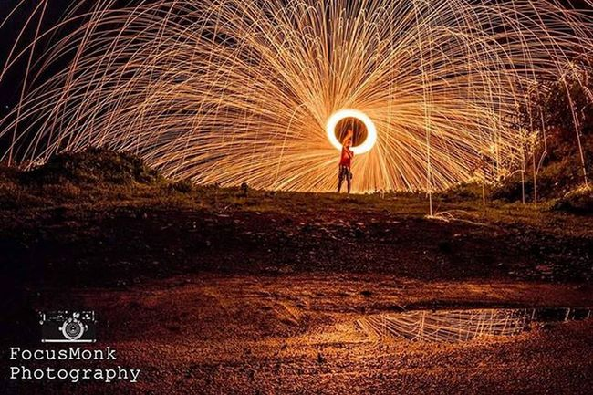 Taking the self portrait game to the next level Steelwoolphotography Slowshutter Light Melbourneiloveyou Steelwool Coast Nikon Yawn Sunset Longexposure_kings Cloudsruinedit Melbonpix Chasinglight Westjava Fire INDONESIA Instagood Onfire Beautiful Clouds Photog Photography Canon Water Spinning follow silhouette like sparks photographer