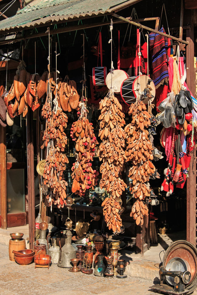 Souvenirs for sale in Skopje old bazar Balkans Choice Day East Europe For Sale Hanging Large Group Of Objects Macedonia Man Made Object Market Stall Merchandise Repetition Retail  Skopje Small Business Souvenir Tradition Variation