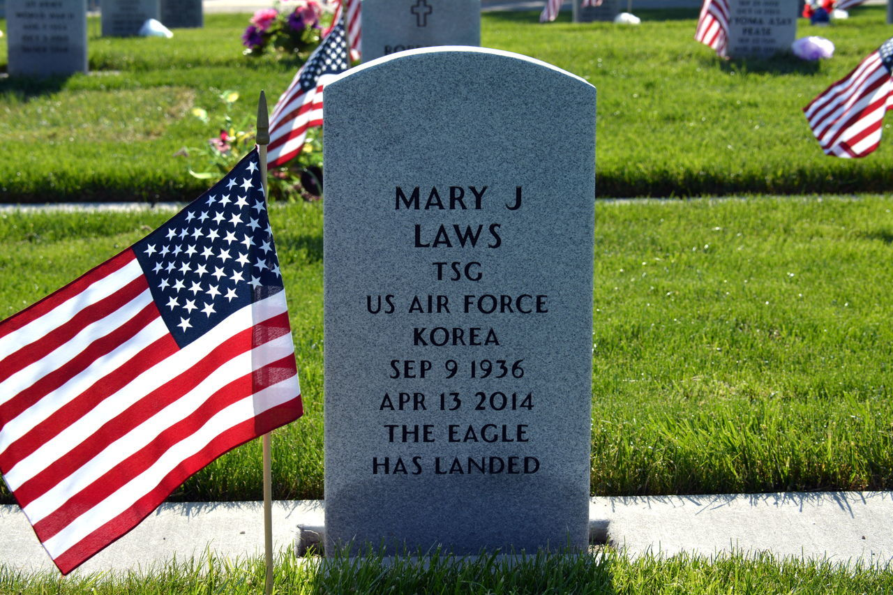 cultures, patriotism, flag, memorial, pride, grass, cemetery, striped, honor, tombstone, military, respect, national icon, text, stars and stripes, freedom, outdoors, day, no people, democracy, history, army, close-up