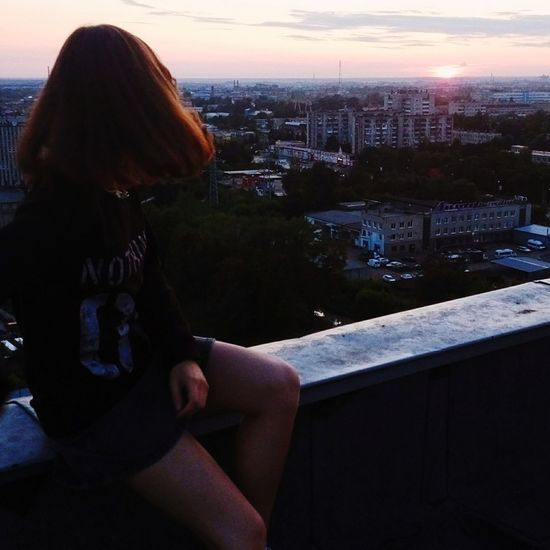 Вчера провожали солнышко с любимыми девочками на крыше🙌 Закат Иваново Sunset Russia Beauty