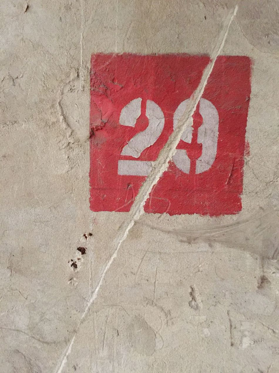 Nofilter Number 29 White Wall Dirty Old Red Sign