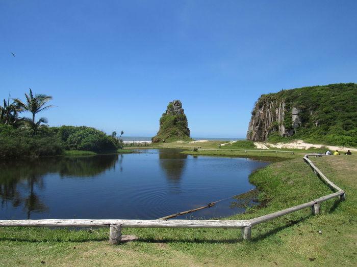 Brazil Torres Rio Grande Do Sul  Beach Parque Da Guarita Lake Mountain
