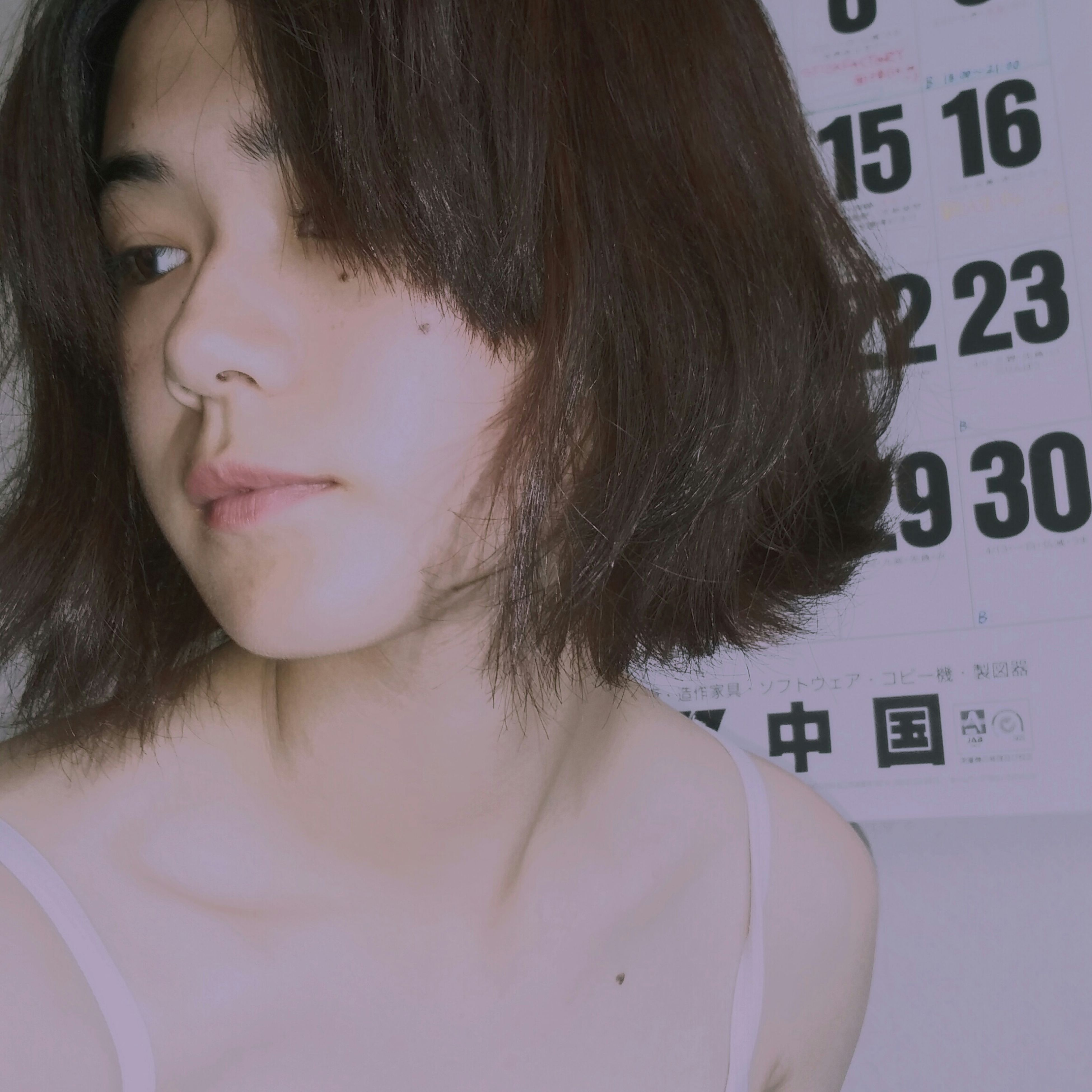 young women, young adult, indoors, person, lifestyles, headshot, long hair, leisure activity, close-up, front view, communication, black hair, human hair, human face, brown hair, focus on foreground, blond hair