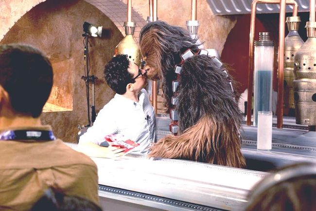 Collected Community working together toward a better Galaxy Jjabrams Chewbacca On Set Starwars7