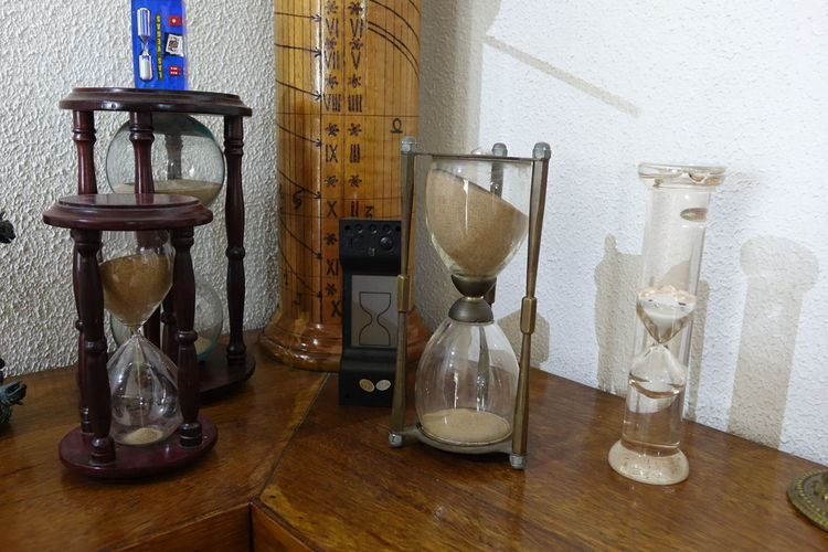Collection Hourglass Keping Time Museum Sand Telling Time Timepieces