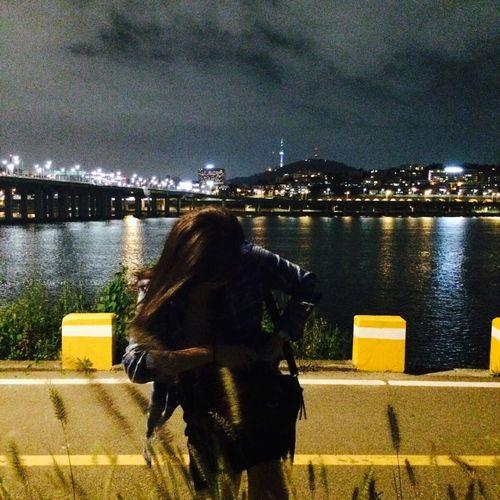Seoul and night girl