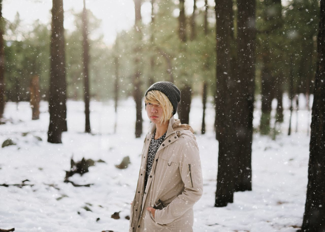 Winter cold temperature snow waist up only women one woman only mature adult focus on foreground one person warm clothing mature women Adults Only Adult Tree people day snowing outdoors Nature Asian Blonde Me EyeEm Best Shots