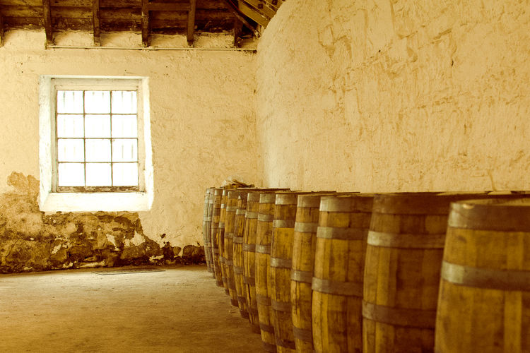 Whisky casks in a storehouse Architecture Barrel Barrels Building Exterior Built Structure Casks Caskstrength Day Destillery Indoors  No People Scotch Scotland 💕 Storehouse Whisky White Wood