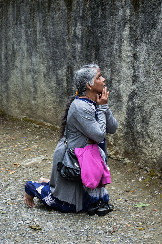 EyeEmNewHere Religion Catolica People One Woman Only Religion Real People First Eyeem Photo Lourdes Woman Eye Mountain Church Devotion And Love Devotion Jesus Christ EyeEmNewHere
