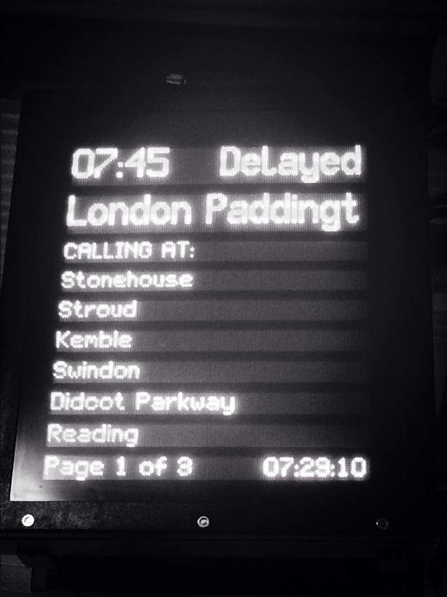 Another great start... Commuting WorstGreatWestern