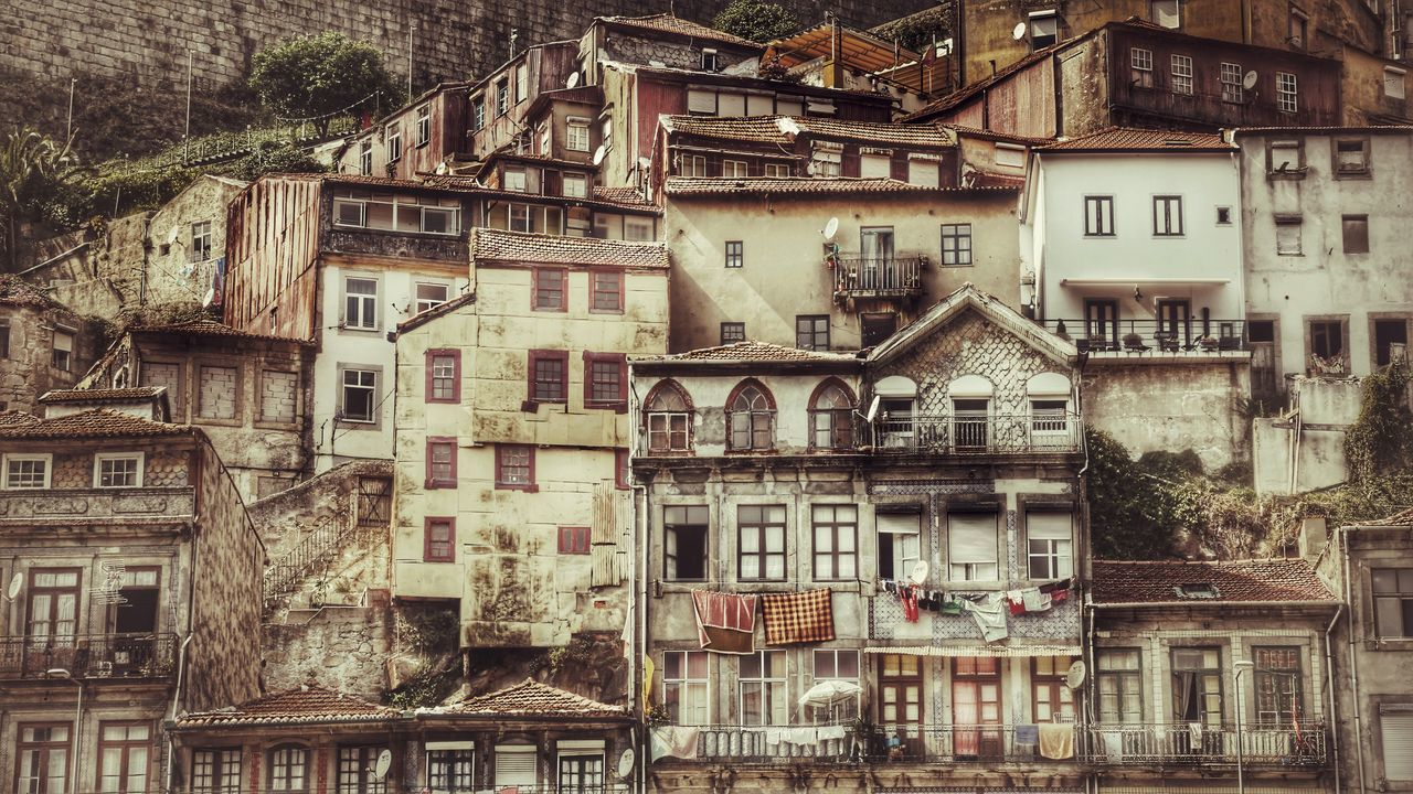 Alongside the Douro Architecture Building Exterior Built Structure Outdoors No People City Porto Portugal Douro  River Riverside Cityscape Day Low Angle View Fire Escape First Eyeem Photo