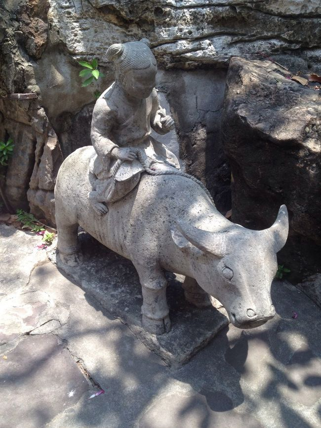 Ancient Thai Temple stonecarving ThaiTemple BangkokThailand