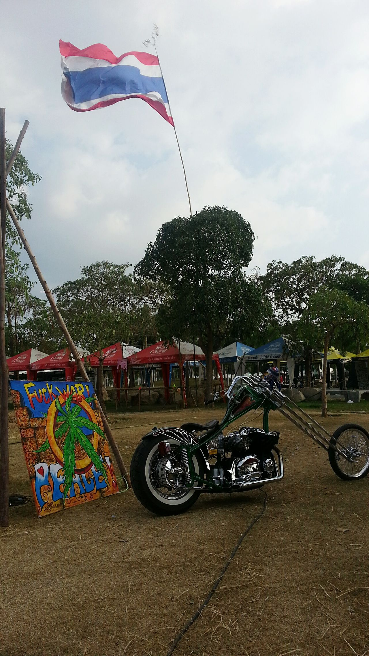 Make love not war. Bike Burapabikeweek Pataya Thailand Chopper Festival