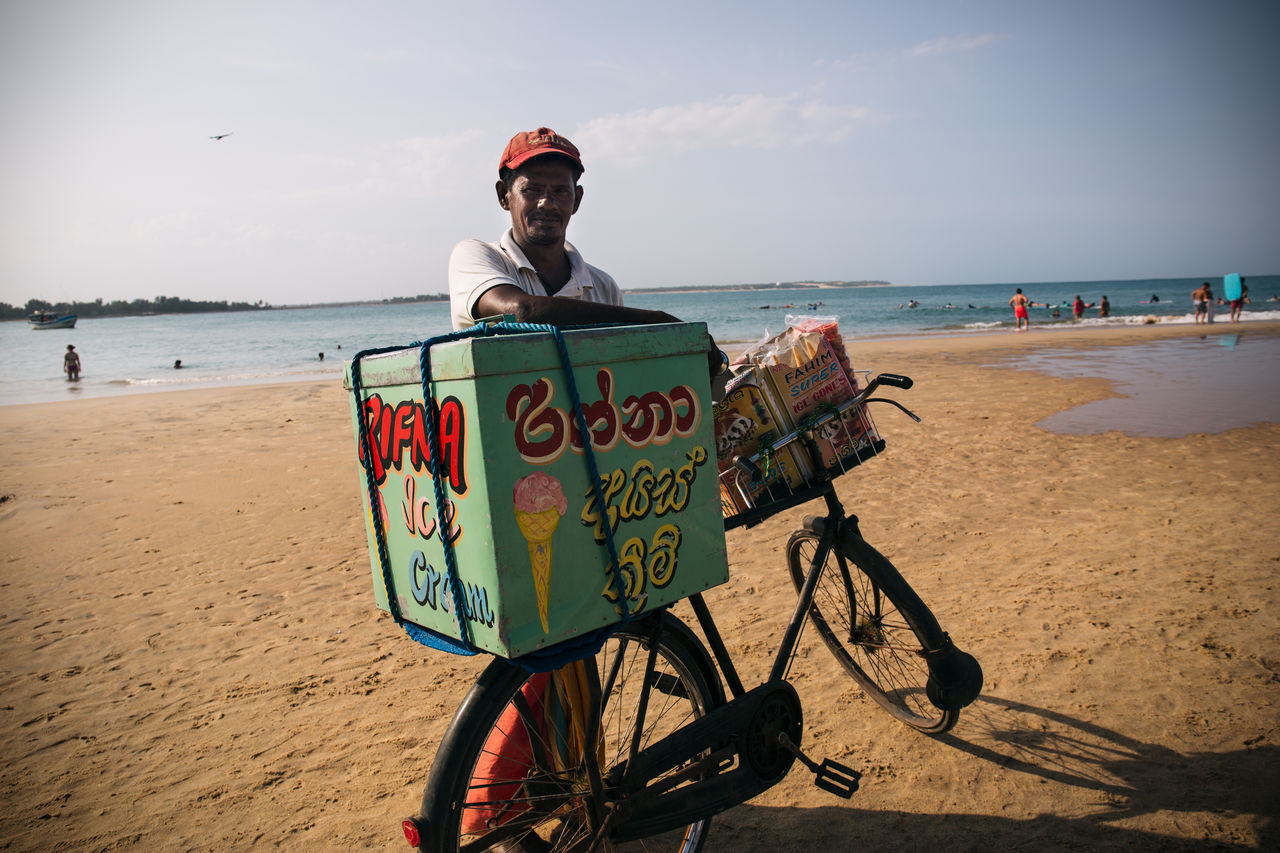 Travel in in the island nation of Sri Lanka Adventure ASIA Beach Bicycle Create Day Discovery Exotic Explore Horizon Over Water Men Nature One Person Outdoors Real People Sand Sea Sky Sri Lanka Travel Traveling Vacations Water The Portraitist - 2017 EyeEm Awards Sommergefühle