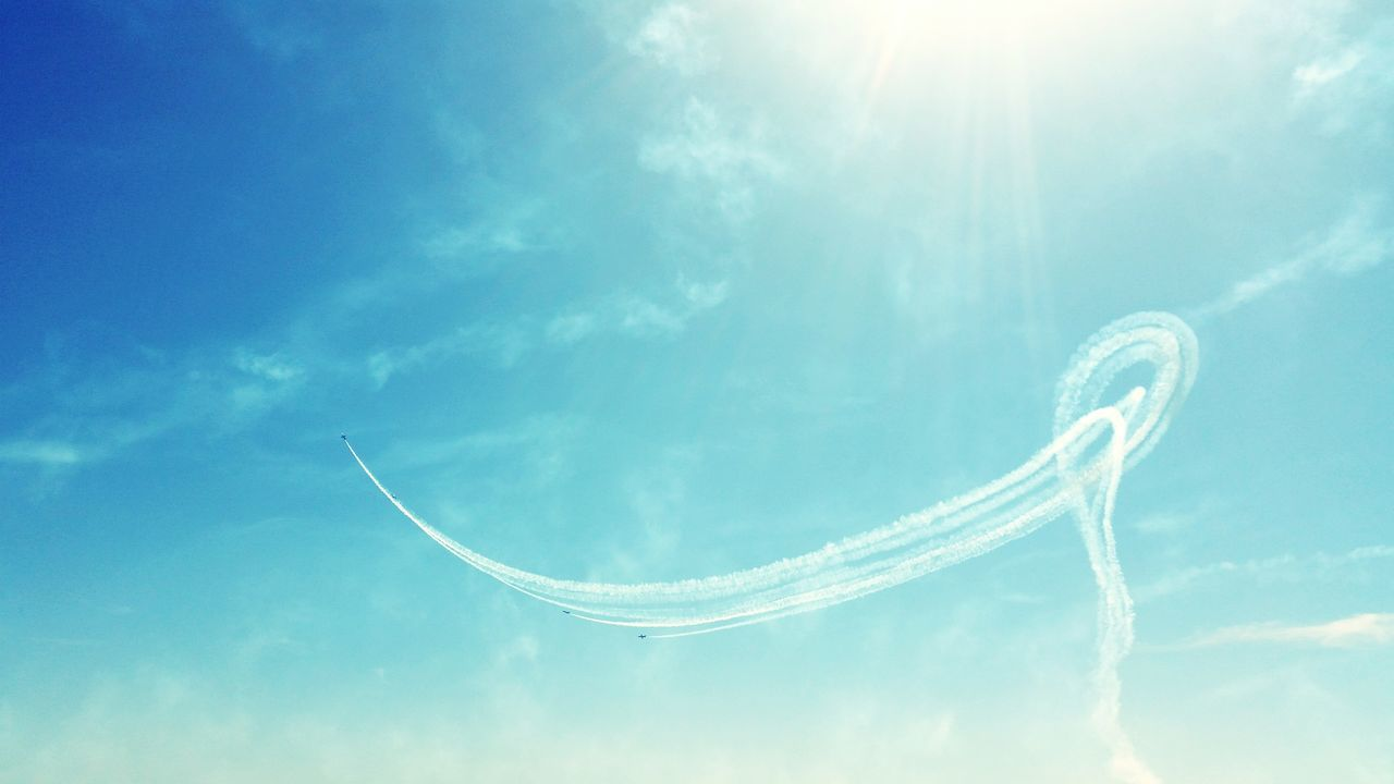 Sky Vapor Trail Blue Breitling Flight Team Miramar Air Show Airshow