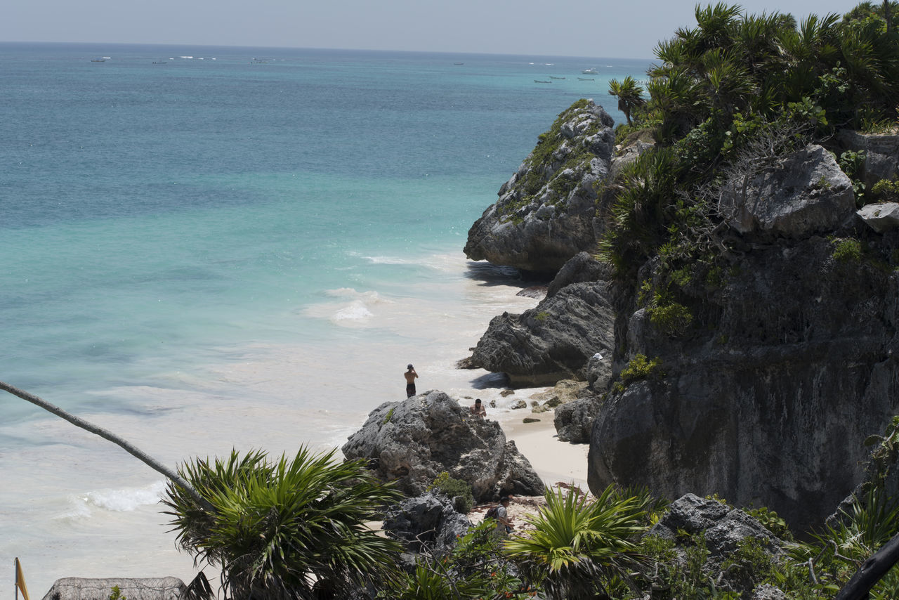 Beach Beauty In Nature Horizon Over Water Mexico Nature Rock Formation Sea Tulum , Rivera Maya.