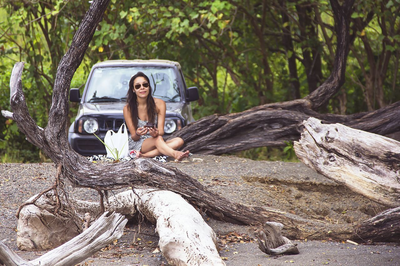 Driving the pacific shore of Costa Rica was so cool. We would stop wherever we found something to see or do. Tree Beauty Car Beauty In Nature Beautiful People One Woman Only Outdoors Delights Of Life Beach Day Only Women Life Is Beautiful Nature Travel Costa Rica Pura Vida ✌