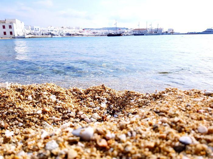 Mykonos Town Mykonostown Mykonos Mykonos Island Greece Greek Islands Greek Cyclades Cyclades Islands Beach Water Harbor Port Focus On Foreground Old Port Harbour Boats Boats And Water Beachside Close-up Sand Beach View Seashore Sea Travel Destinations