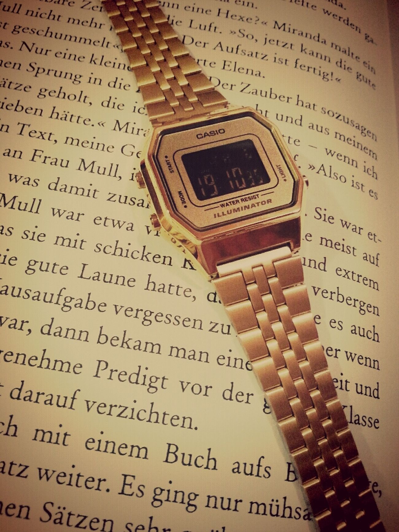 Photography Casio Watch Gold Book