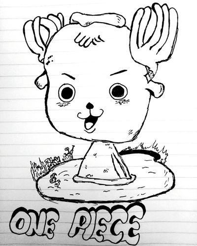 Drawing Pencil Drawing EyeEmNewHere The Week On EyeEm Eyeemphotography First Eyeem Photo OnePiece♥ Onepiecelover Onepiecefan Chopper
