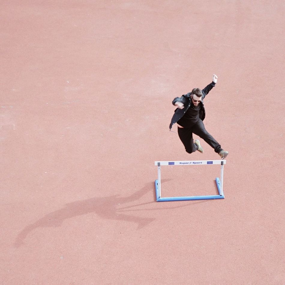 TCPM Sport Competition One Person Outdoors Jumping Athlete Men Art Is Everywhere Architectureandpeople Minimalistic Real People Jumpstagram Jump Jumpshot Jumper Minimal Pink Minimalpeople Break The Mold Break The Mold