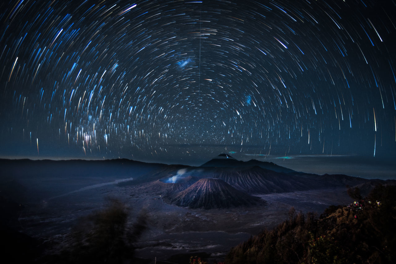 night astronomy star - space space and astronomy milky way landscape mountain sky Galaxy Constellation blue space Nature outdoors no people scenics star trail beauty in Nature Nightphotography night view INDONESIA Travel Photography Travelling travel destinations beauty in Nature Fresh on Market 2017