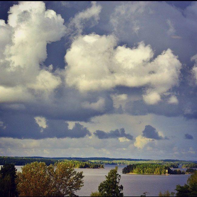Финляндия небо тучи озеро Саймаа Finland Saimaa sky clouds