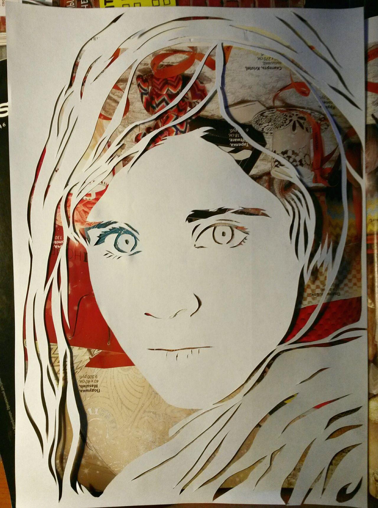 Close-up Stencil Art Streetart Art Cut