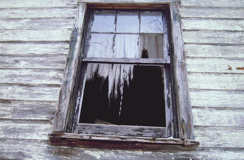 Window Creepy House Cabin In The Woods Haunted