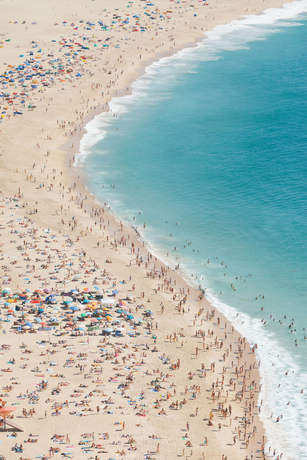 A Bird's Eye View beach beach holiday blue Calm City Coastline crowd crowded day enjoyment high angle view large group of people sand scenics sea shore summer tourism Tourist tranquil scene Tranquility travel destinations Vacations water