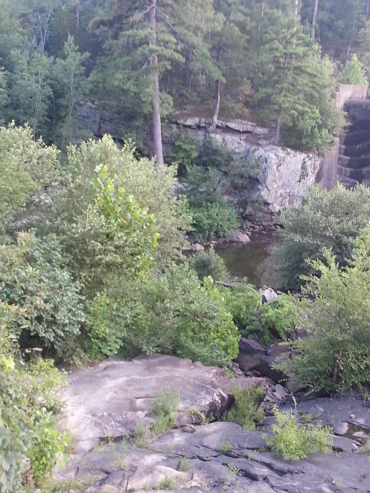 View past the spillway on lake carlton Taking Photos Robbers Cave State Park Wilburton Scenery