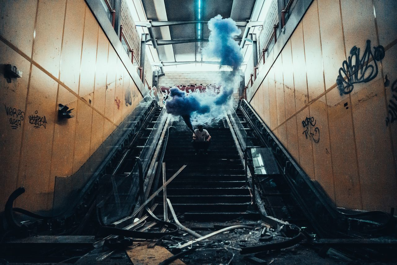 Full Length Real People One Person Indoors  Day People Adult Scenics Abandoned Transportation Front View Urbex The Street Photographer - 2017 EyeEm Awards DOPE