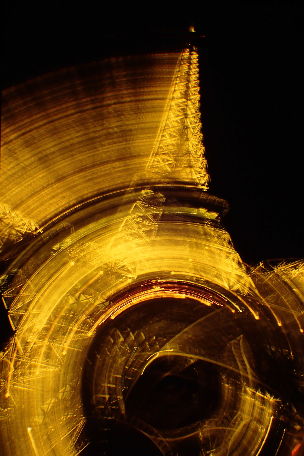 Eiffel Tower France Gold Colored Nightlights No People Paris Special Effects Travel Destinations