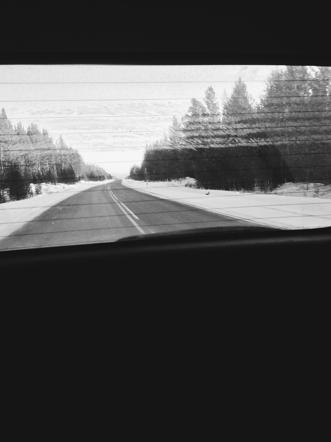 On The Road Road Trip Window Blackandwhite Black & White