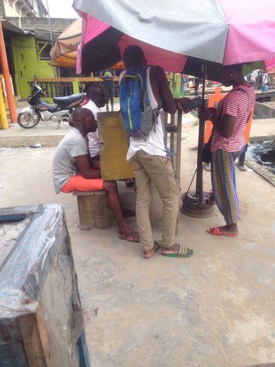Chez nous à Abidjan on fait notre pétit business de téléphone portable First Eyeem Photo
