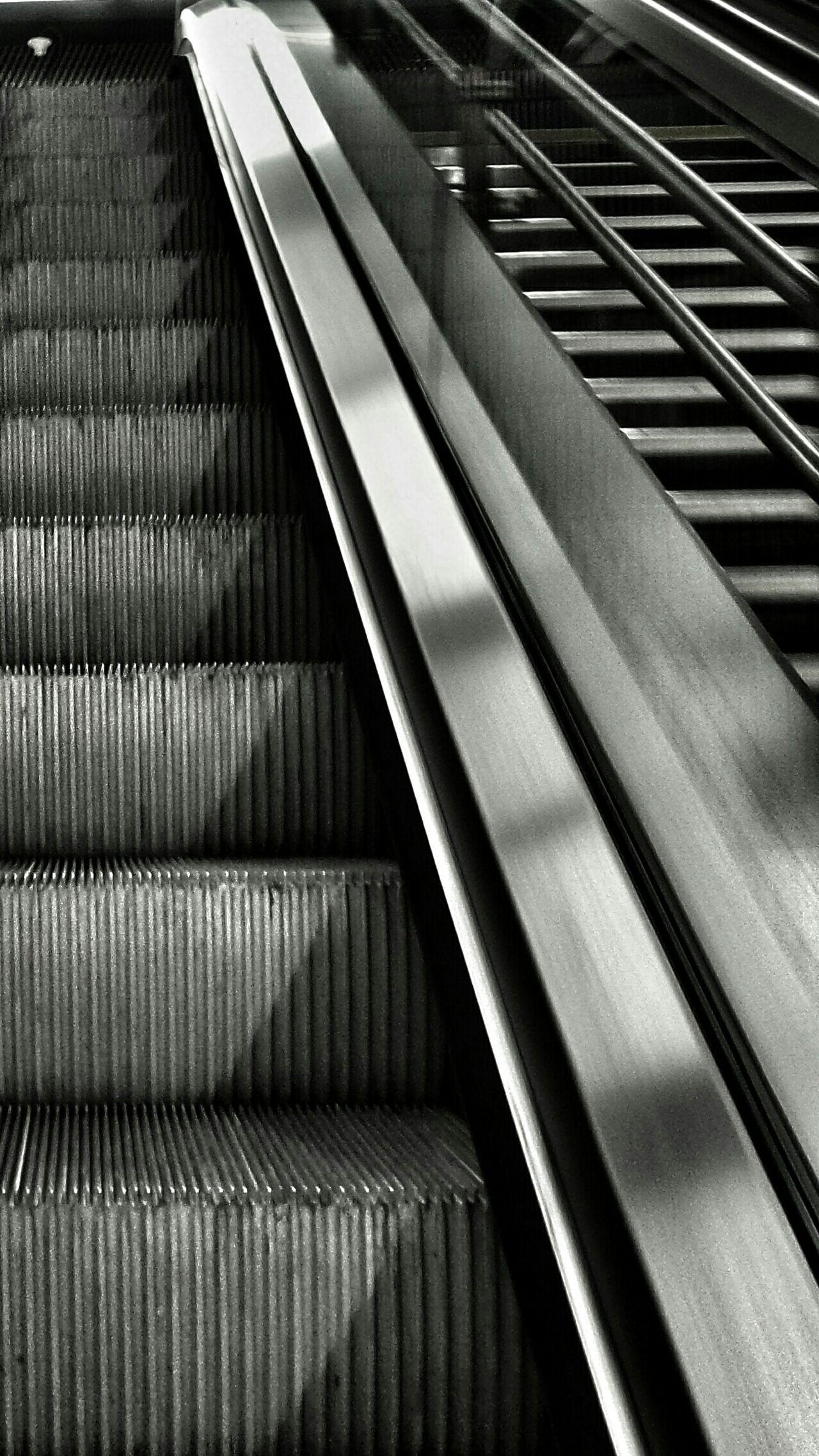 Up 👆 Bnw_friday_eyeemchallenge Escalator Notes From The Underground Urban Geometry Black And White Monochrome