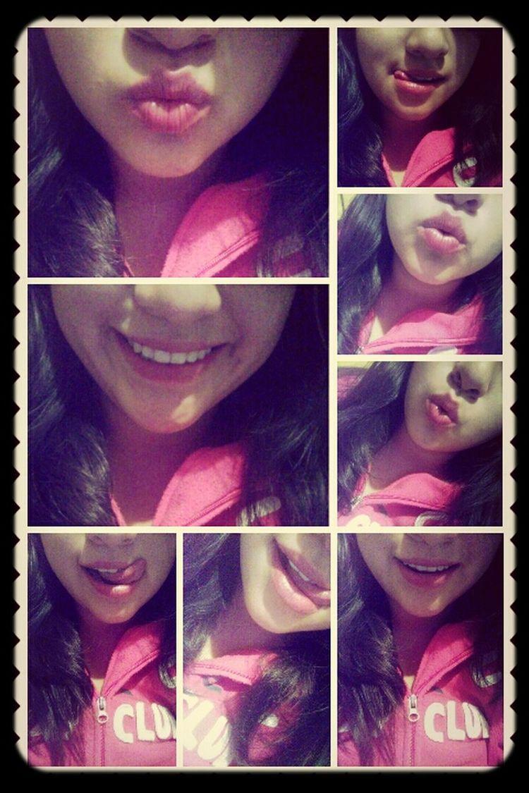 red lips love it <3