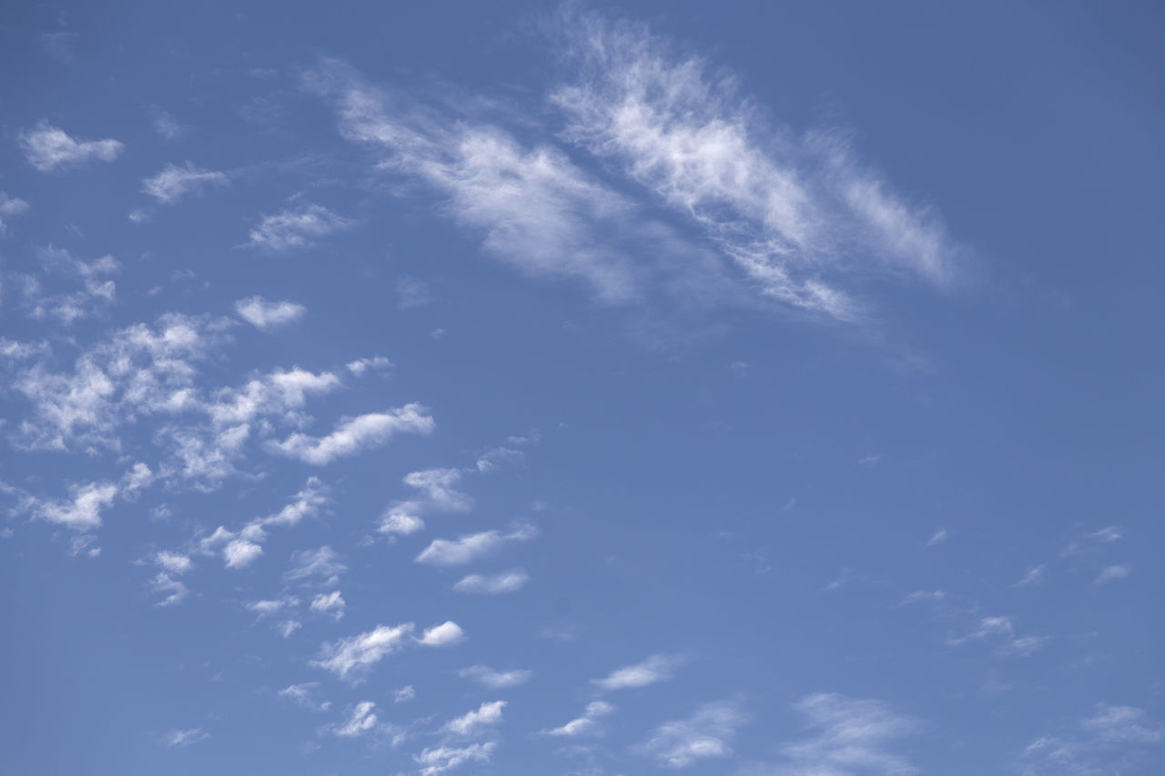 Backgrounds Beauty In Nature Blue Cirrus Cloud - Sky Day Full Frame Heaven Low Angle View Nature No People Outdoors Scenics Sky Sky Only Tranquility