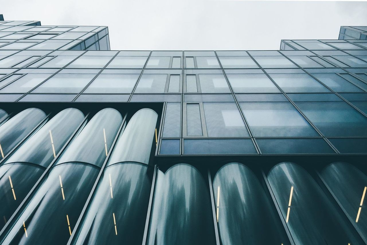 Architecture Blue Close-up Curtain Walls Day Europe Glass Holland Low Angle View Natherland No People Outdoors Reflection Rotterdam Sky Timmerhuis