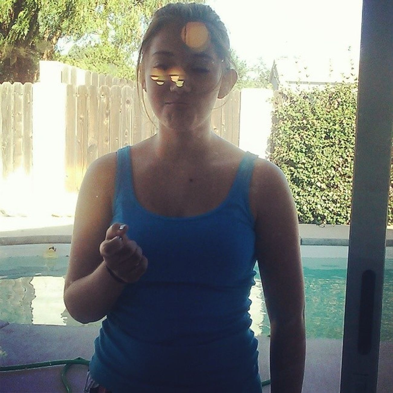 Locked her out of the house :D Ahahaha Dumb_ass This_girl Love_her Lmfao