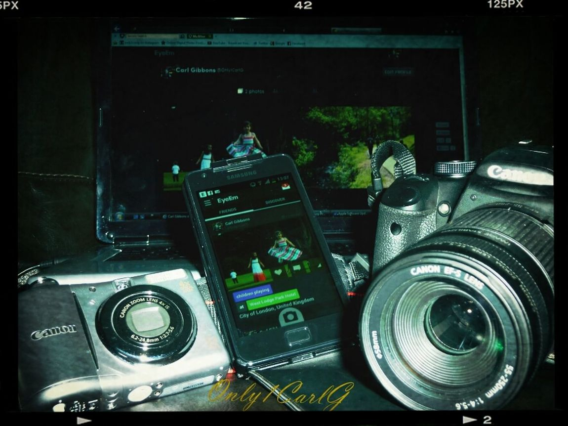 Taking Photos Photography Equipment Picture Within A Picture Multi-media Wintage Filter