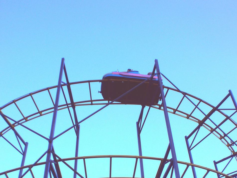 Beautiful stock photos of roller coaster, Amusement Park, Arts Culture And Entertainment, Blue, Clear Sky